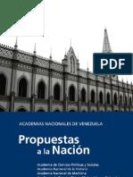 Academias Nacionales.Propuestas a la Nación