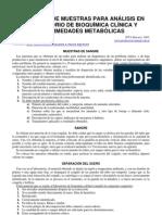 67-Obtencion de Muestras Para Analisis de Bioquimica