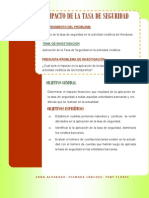 Boletin Impacto de la tasa de seguridad en la actividad crediticia de Honduras