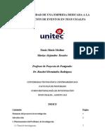 Pre factibilidad de  una microempresa dedicada a la planificación de eventos en Tegucigalpa