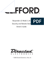 Clifford Responder LE Model 3.3X - Security and Remote Start - Owner's Guide