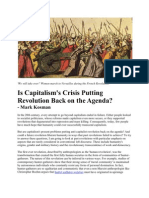 Is Capitalism's Crisis Putting Revolution Back on the Agenda? - Mark Kosman