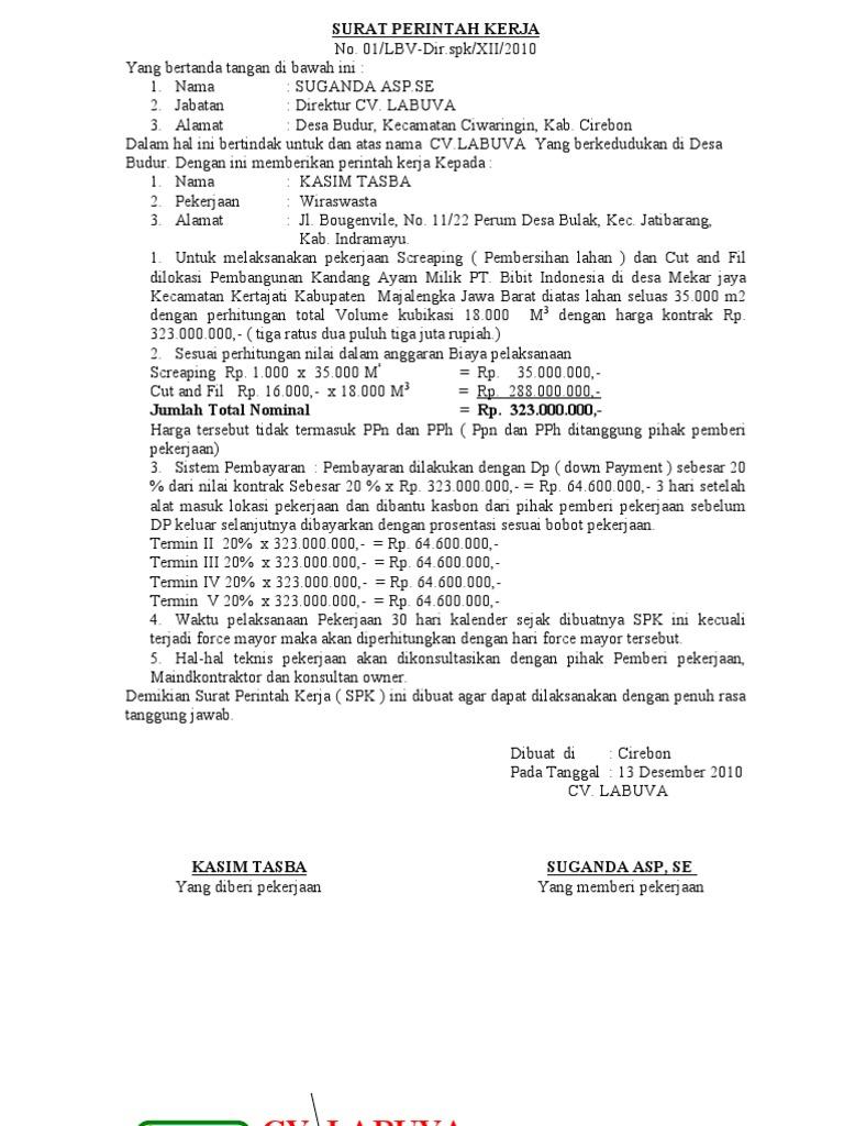 surat perintah kerja  u0026 spkb