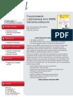 Pozycjonowanie i optymalizacja stron WWW. Ćwiczenia praktyczne
