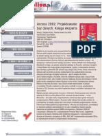 Access 2002. Projektowanie baz danych. Księga eksperta