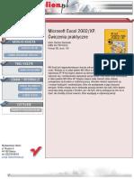 MS Excel 2002/XP. Ćwiczenia praktyczne