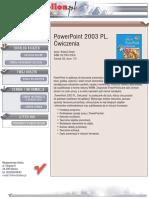 PowerPoint 2003 PL. Ćwiczenia