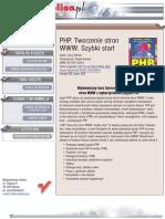 PHP. Tworzenie stron WWW. Szybki start