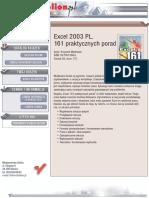 Excel 2003 PL. 161 praktycznych porad