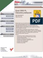 Excel 2003 PL. Ćwiczenia praktyczne