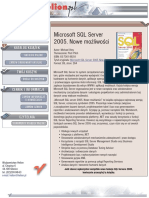 Microsoft SQL Server 2005. Nowe możliwości