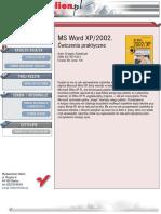 MS Word 2002/XP. Ćwiczenia praktyczne