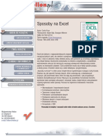 Sposoby na Excel