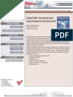 EdgeCAM. Komputerowe wspomaganie wytwarzania