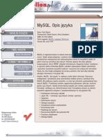 MySQL. Opis języka