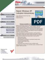 Rejestr Windows XP. Leksykon kieszonkowy