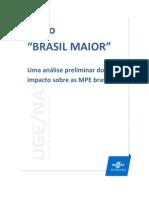 Plano Brasil Maior - Análise dos impactos nas MPEs