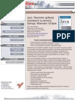 Java. Tworzenie aplikacji sieciowych za pomocą Springa, Hibernate i Eclipse