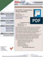 Excel 2003. Programowanie. Zapiski programisty