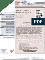 Instrukcja obsługi komputera. Wydanie II