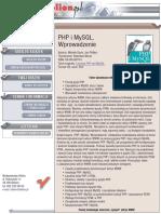 PHP i MySQL. Wprowadzenie