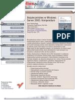 Bezpieczeństwo w Windows Server 2003. Kompendium