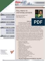Blog, więcej niż internetowy pamiętnik