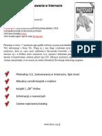 Photoshop 5.5. Zastosowania w Internecie