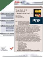 Visual Studio 2005. Programowanie z Windows API w języku C++