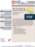 ABC Visual Basica dla aplikacji w Office XP PL