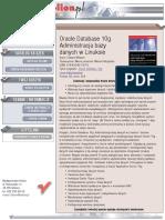 Oracle Database 10g. Administracja bazy danych w Linuksie