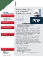 Microsoft Office 2007 PL. Rady i wskazówki. Rozwiązania w biznesie
