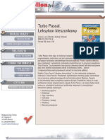 Turbo Pascal. Leksykon kieszonkowy