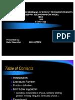 Mining Data Streams Presentation