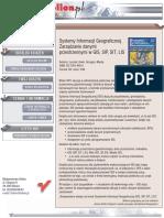 Systemy Informacji Geograficznej. Zarządzanie danymi przestrzennymi w GIS, SIP, SIT, LIS