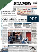 La Stampa 11.08.11