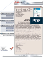 Tworzenie makr w VBA dla Excela 2003/2007. Ćwiczenia