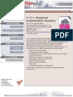 C i C++. Bezpieczne programowanie. Receptury