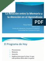 Memoria y Atencion en El Aprendizaje