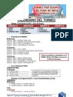 Calendario Del Torneo 2011