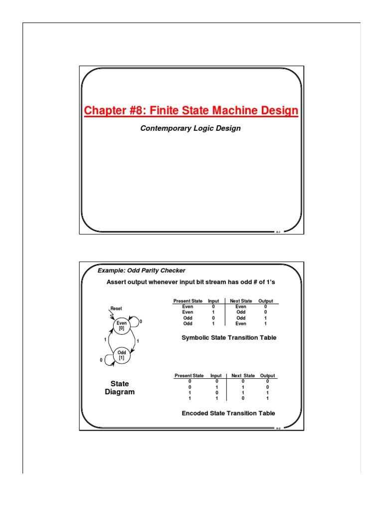 Chp8 Digital Electronics Electrical Engineering Example Finite State Machine Diagram