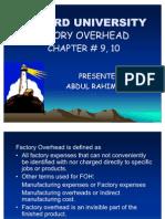 Factory Overhead by Abdul Rahim Siuriya