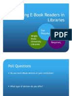Integrating E-Books and E-Readers into Your Library Session 2, Sue Polanka
