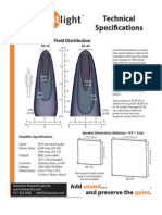 Audio Spotlight Specifications Dimensions
