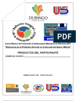 productos CURSO BASICO FCMS 2011 Relevancia de la Profesión Docente unitep053 ATP FJIR