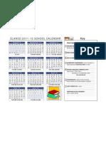 ELANCO School Calendar 2011-12