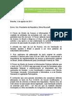 Carta à presidente Dilma Rousseff