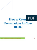 How to Create Presentations for Your Blog