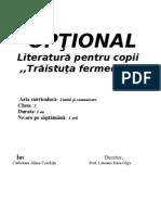 Optional.literatura Pentru Copii( ,,Traistuta Fermecata'')