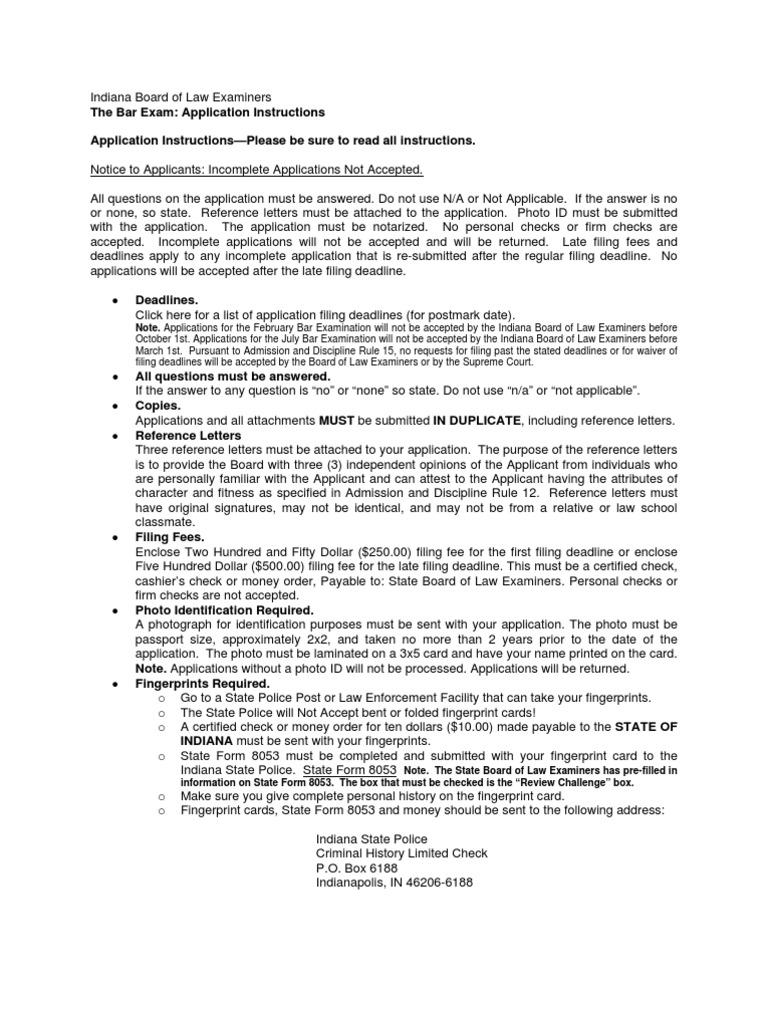 Bar Exam App Instructions | Identity Document | Government